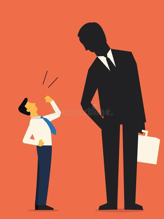 Utmaningstora affärer stock illustrationer