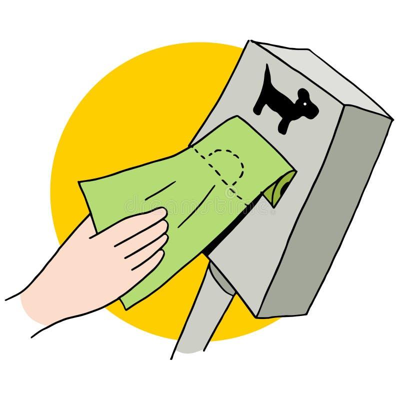 Utmatare för hundakterpåse stock illustrationer