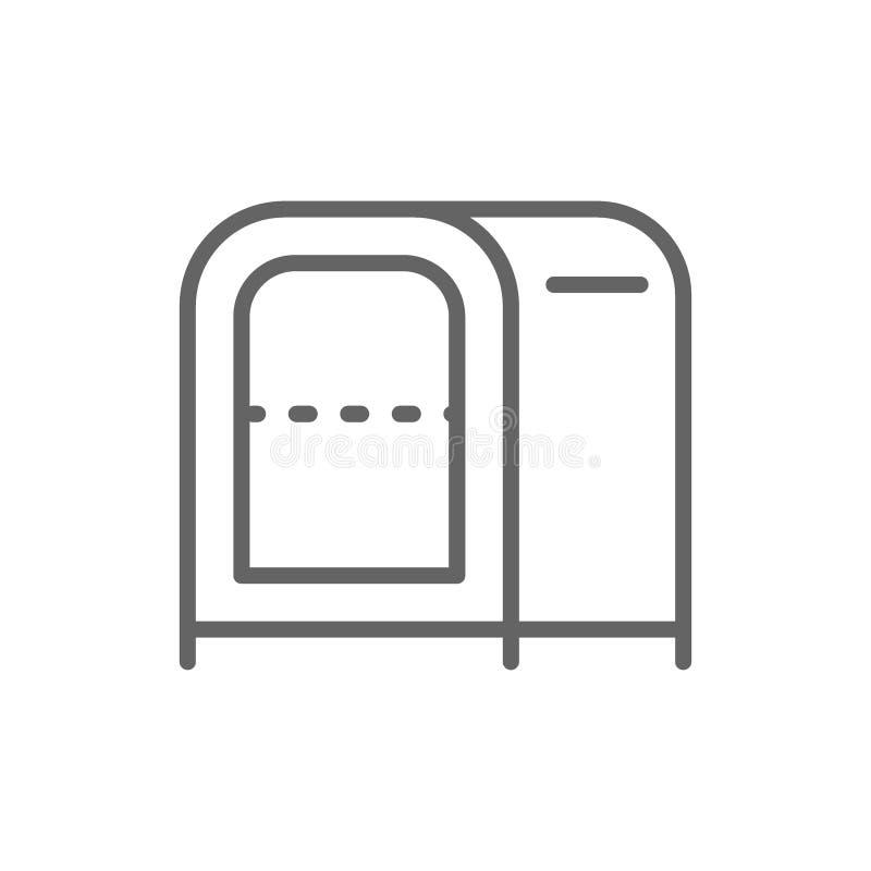 Utmatare för pappers- handduk, servetthållare för restauranglinjen symbol royaltyfri illustrationer