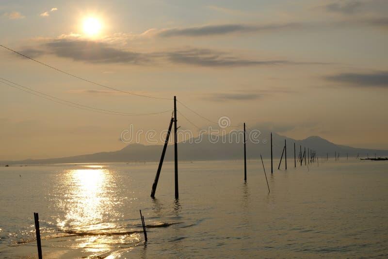 Uto, Sumiyoshi, Japón / 8 de septiembre de 2019ï ¼ Å¡ Nagabeta Fishery Tidal Road fotos de archivo libres de regalías