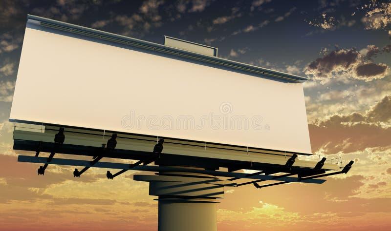utomhus- annonsering royaltyfri illustrationer