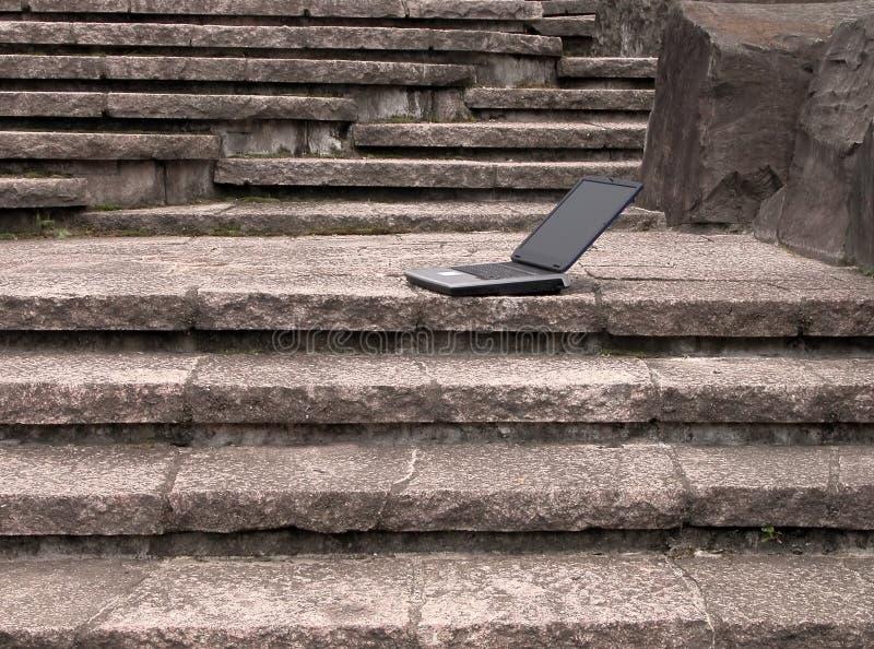 utomhus- bärbar dator arkivfoton