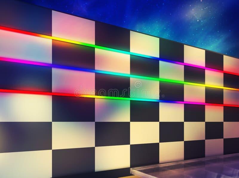 Utomhus- belysning genom att använda LEDD RGB-färg fotografering för bildbyråer