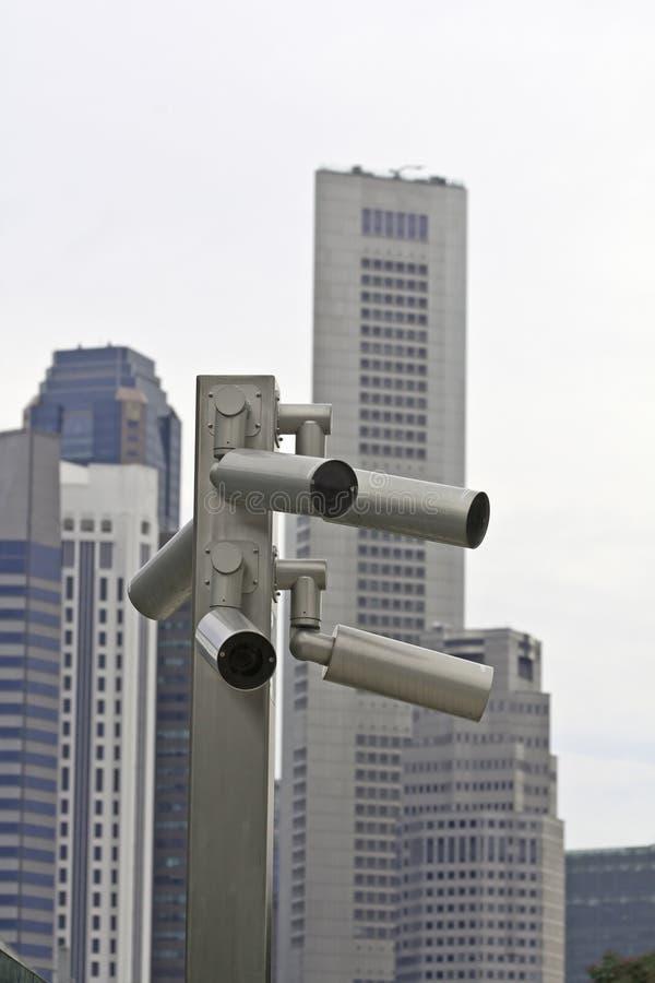 utomhus- bevakning för kameror royaltyfri bild