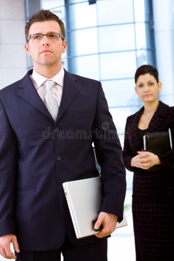 utomhus- businesspeople royaltyfri foto