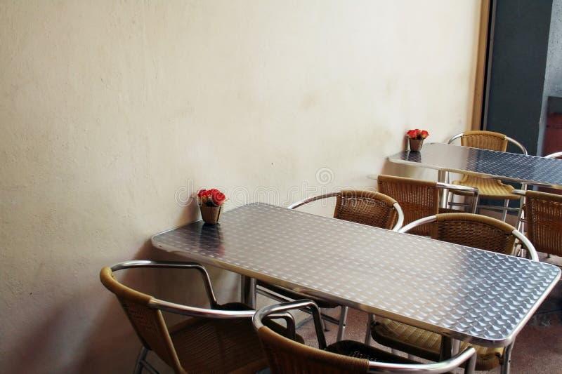 utomhus- cafe arkivfoton