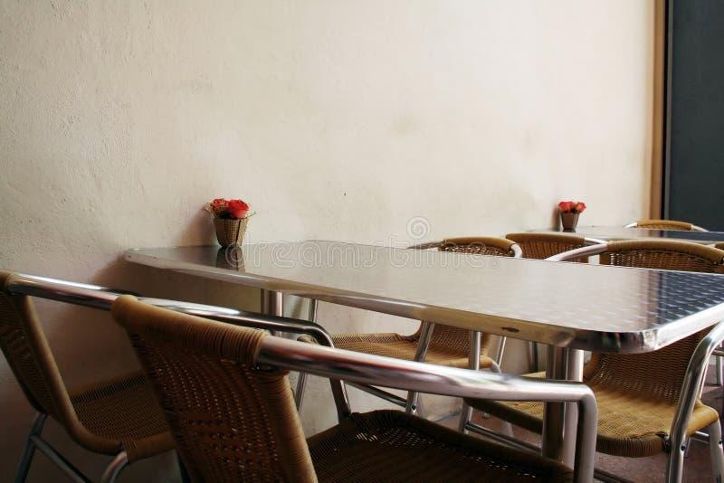 utomhus- cafe royaltyfri fotografi