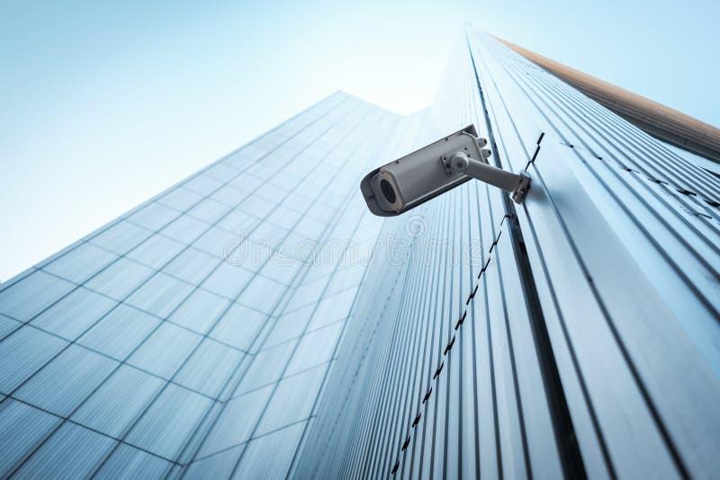 Utomhus- CCTV-säkerhetskamera arkivfoton