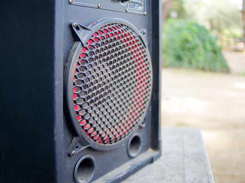 Utomhus- closeup för högtalare royaltyfria bilder