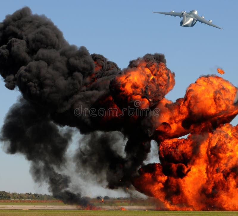 utomhus- explosion royaltyfria foton