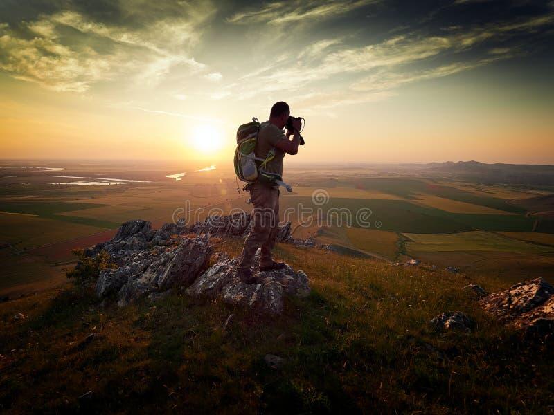 utomhus- fotograf royaltyfri bild