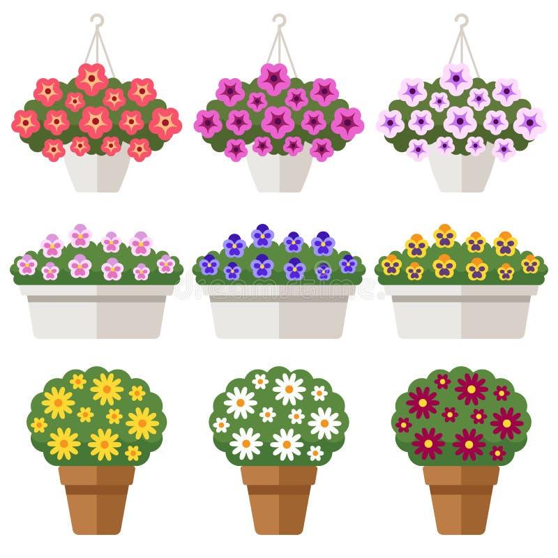 Utomhus- inlagda blommor royaltyfri illustrationer