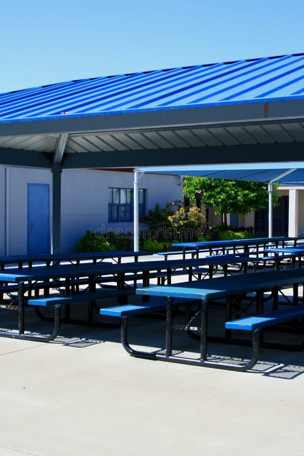 utomhus- kafeteria arkivbild