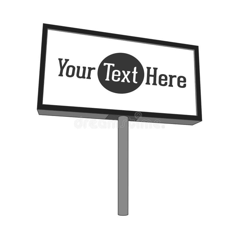 Utomhus- kommersiell ställning med den tomma panelen för din advertizing royaltyfri illustrationer