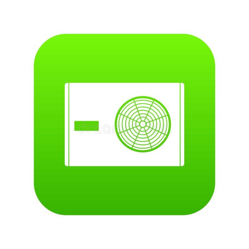 Utomhus- kompressor av digital gräsplan för luftkonditioneringsapparatsymbol stock illustrationer
