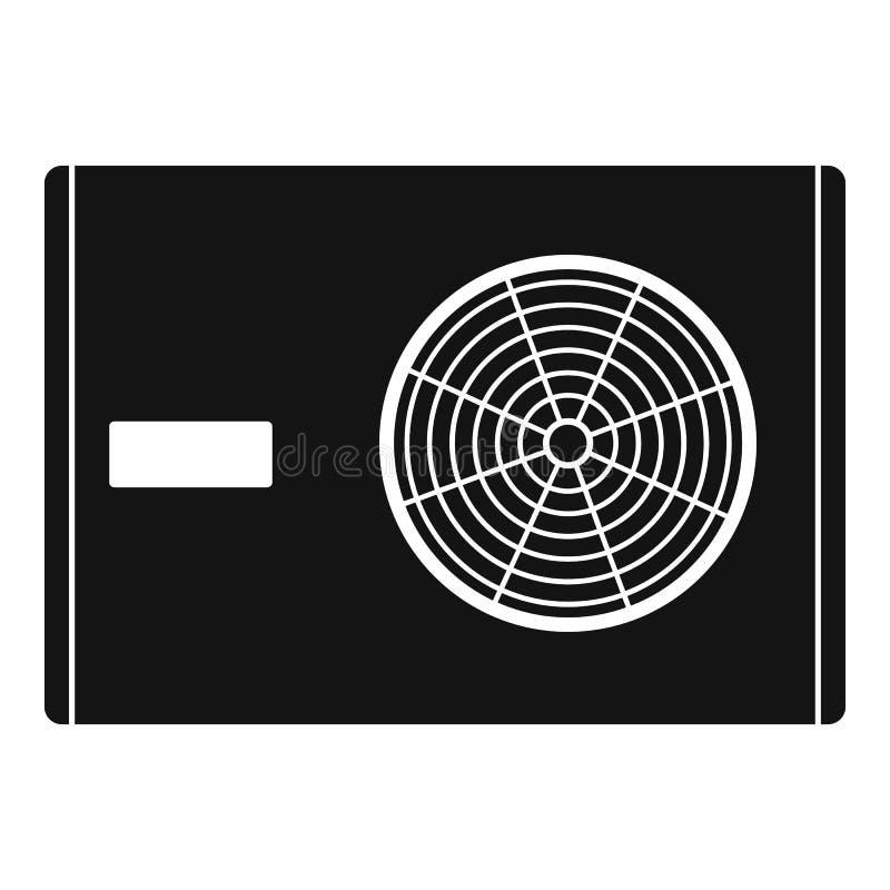 Utomhus- kompressor av luftkonditioneringsapparatsymbolen royaltyfri illustrationer