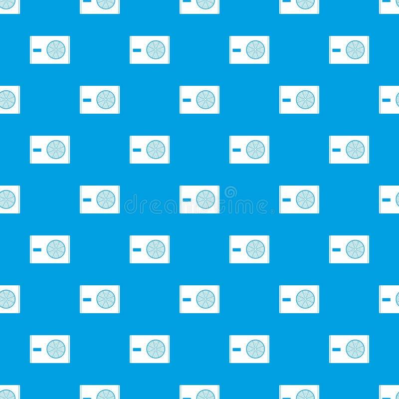 Utomhus- kompressor av sömlösa blått för luftkonditioneringsapparatmodell royaltyfri illustrationer