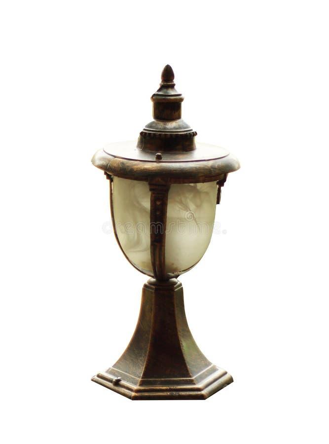 Utomhus- lampa för tappning arkivbilder
