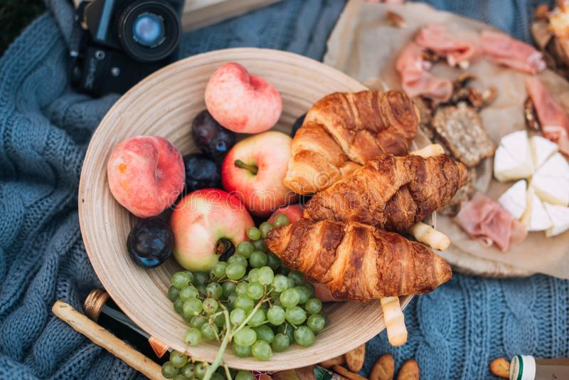 Utomhus- picknick royaltyfri bild