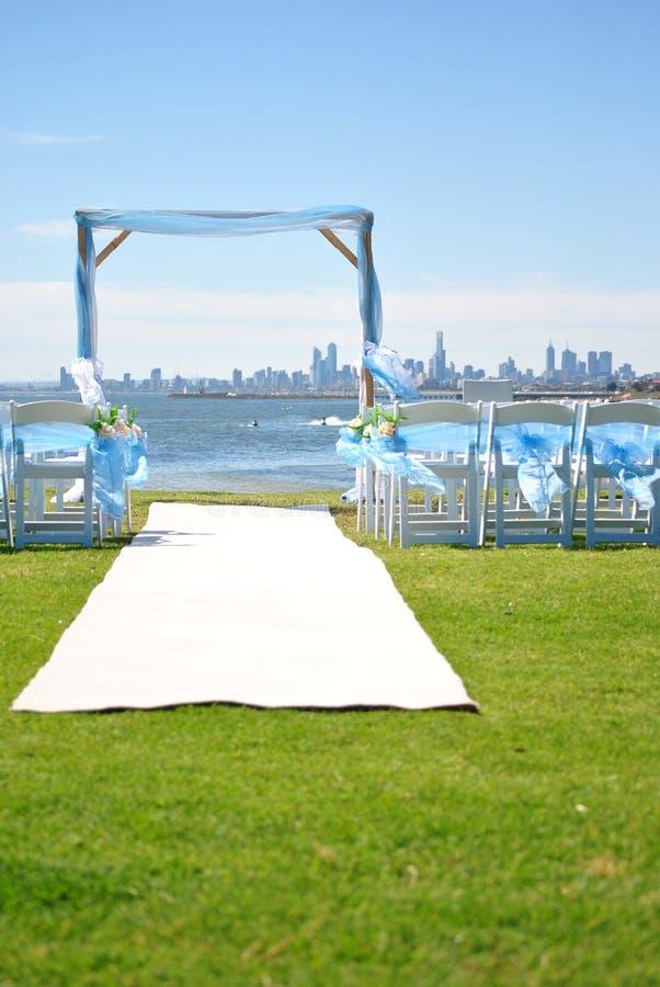 utomhus- platsbröllop royaltyfri foto
