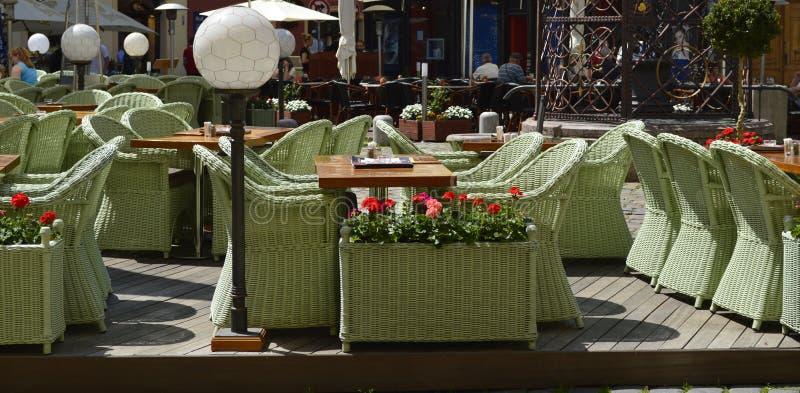 utomhus- restaurang royaltyfri foto