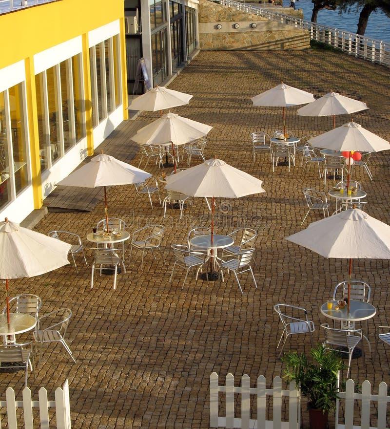 utomhus- restaurang arkivbilder