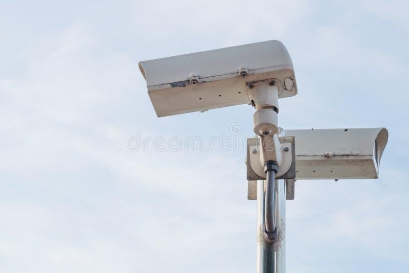 Utomhus- säkerhetscctv-kamera arkivbilder