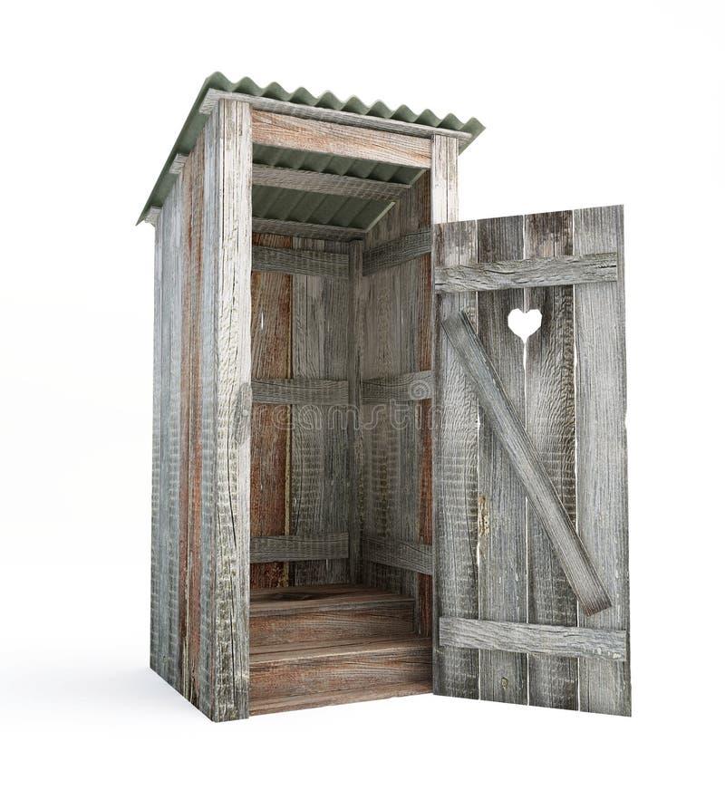 utomhus- toalett stock illustrationer