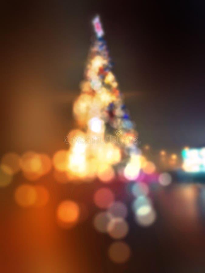utomhus- tree f?r jul royaltyfria bilder