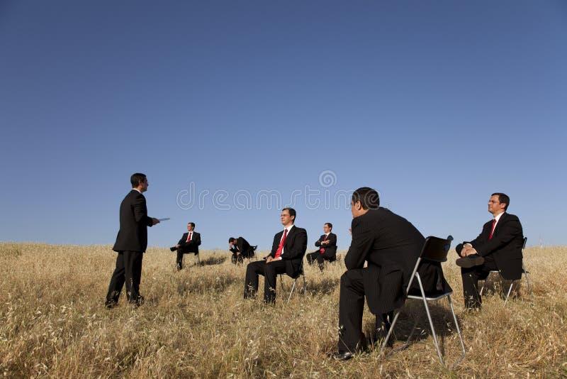 utomhus- utbildning för affär royaltyfria foton