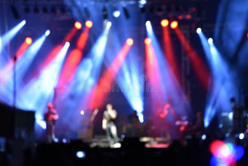 Utomhus- vagga konserten arkivbild