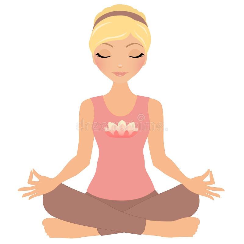 Utomhus- yoga stock illustrationer