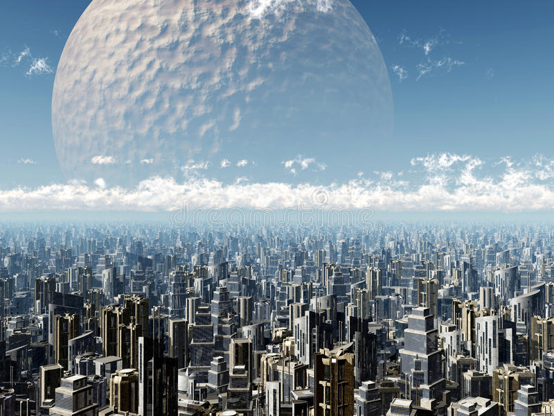 Utomjordisk civilisation stock illustrationer