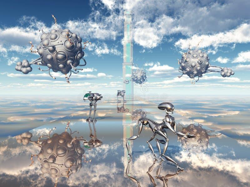 Utomjordiskt liv vektor illustrationer