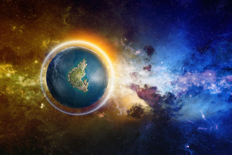 Utomjordiskt liv i djupt utrymme royaltyfri bild