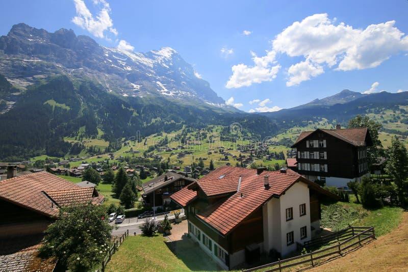 Utopía en Swizterland - Grindelwald imágenes de archivo libres de regalías