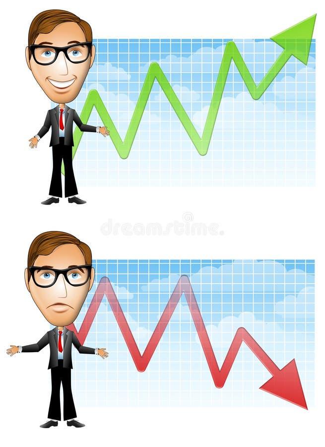 utraty zysków biznesmen royalty ilustracja