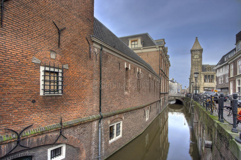 Utrecht. Canal and street, Holland royalty free stock photos