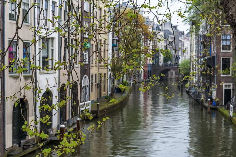 Utrecht. Canal. Holland. Utrecht. Canal in the center of the city. Netherlands stock images