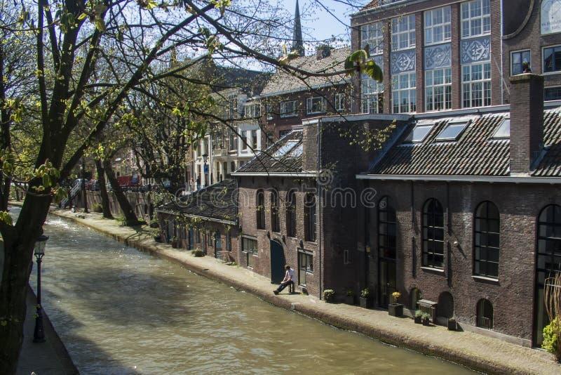 utrecht canal holland foto de stock