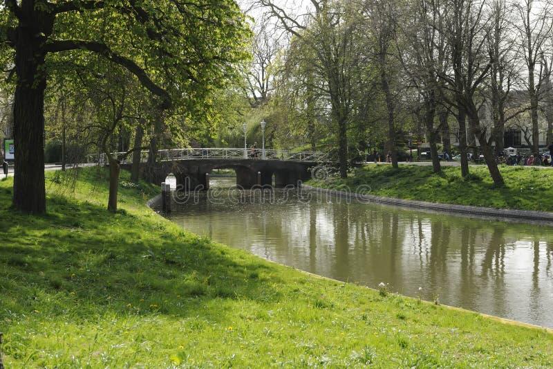 utrecht canale l'olanda fotografia stock libera da diritti