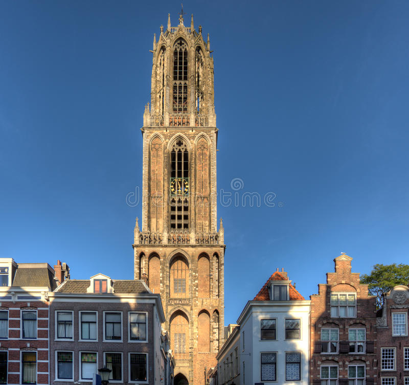 Utrecht Dom Tower. The famous Dom tower in Utrecht, Netherlands stock image