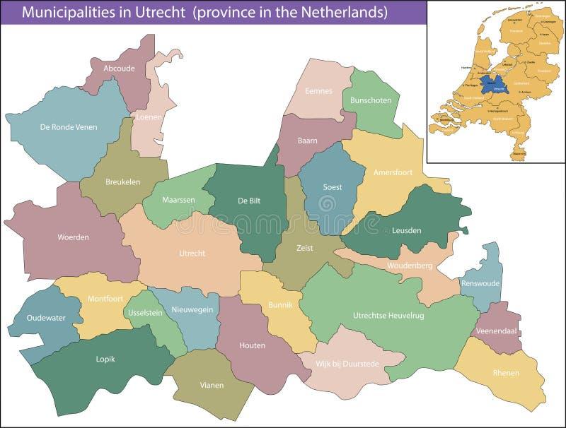 Utrecht jest prowincją holandie obraz royalty free