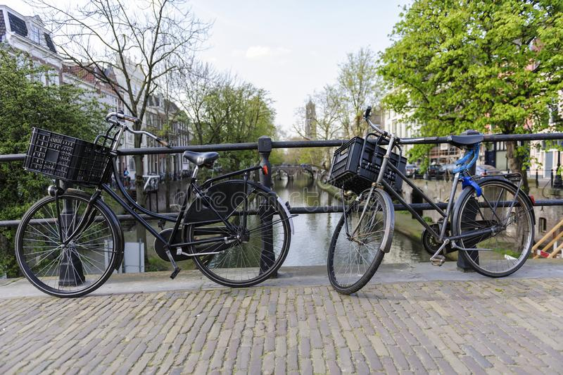 utrecht kanal holland royaltyfria foton