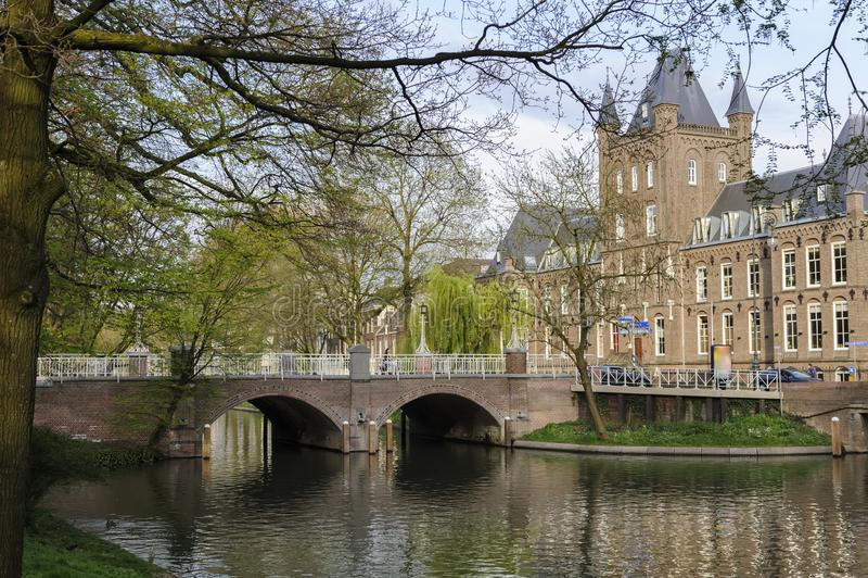 utrecht kanal holland arkivfoton