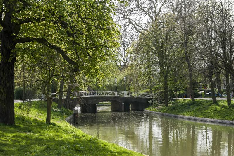 utrecht kanal holland royaltyfri bild