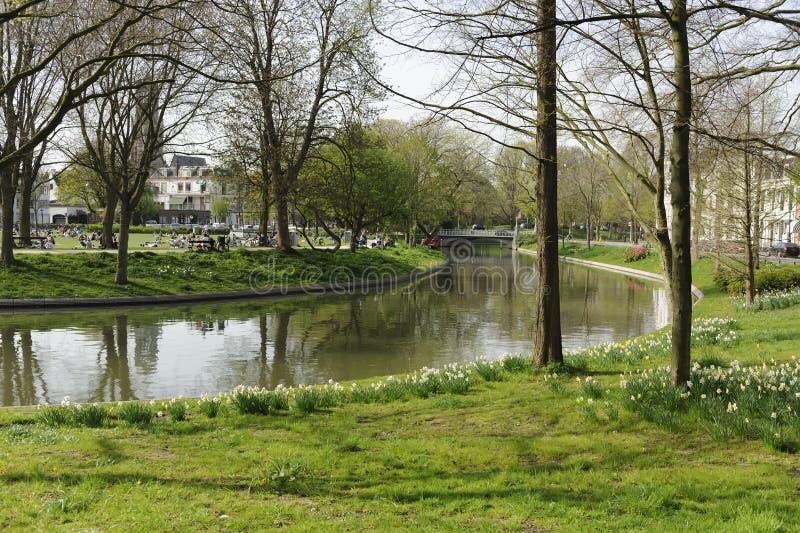 utrecht kanal holland royaltyfri fotografi
