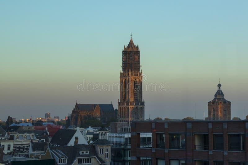 Utrecht, Nederland - September 27, 2018: St Martins kathedraal stock foto