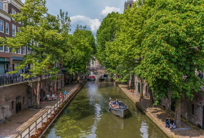 The Old Town of Utrecht, Netherland royalty free stock photo