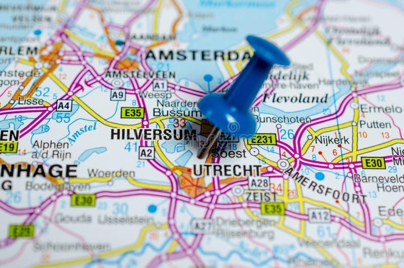 Utrecht op kaart stock foto's
